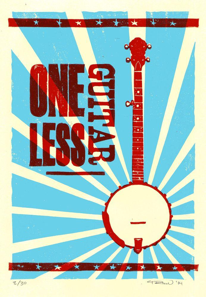 One Less Guitar: Banjo   Papirklipp