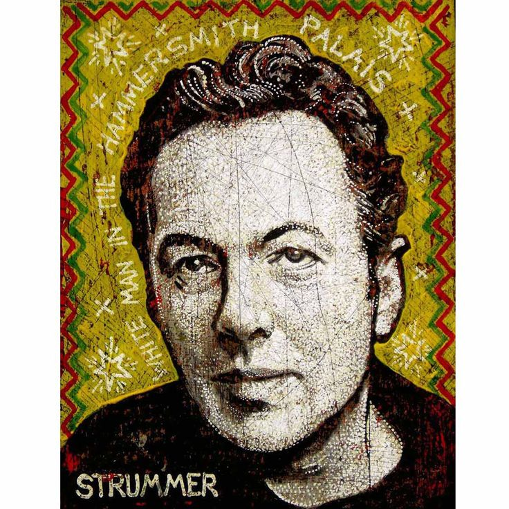 Joe Strummer by Jon Langford $375
