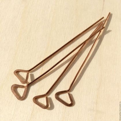 Для украшений ручной работы. Ярмарка Мастеров - ручная работа. Купить Пины медь  50 мм треугольник фигурные ручная работа  для украшений. Handmade.