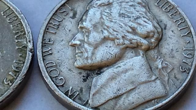 Rare Jefferson Nickels 1973 No Mint Marks US Coin Collection