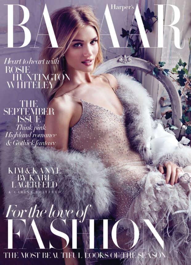 Rosie Huntington-Whiteley Stuns on the September Cover of UK Harper's Bazaar for the Third Year Running! (Forum Buzz) - http://www.theessential.online/rosie-huntington-whiteley-stuns-on-the-september-cover-of-uk-harpers-bazaar-for-the-third-year-running-forum-buzz/