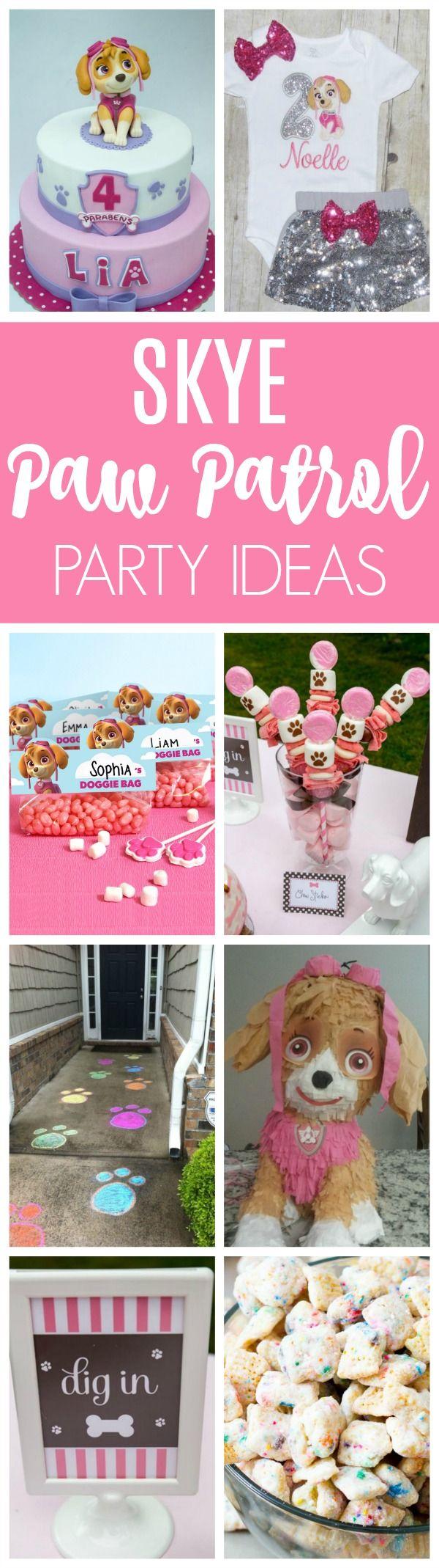 21 Skye Paw Patrol Party Ideas | Pretty My Party