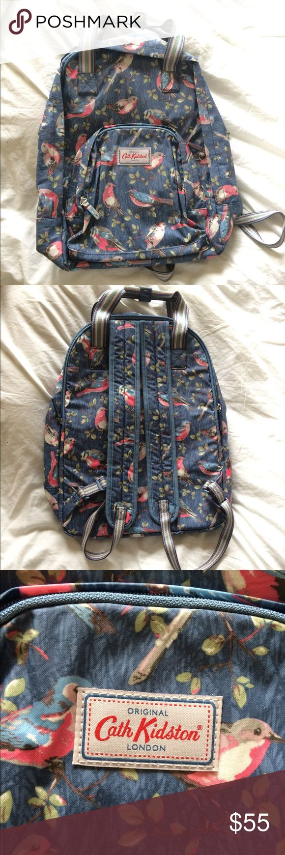 NWOT Cath Kidston Laptop Backpack Item information: Brand: Cath Kidston Garment: NWOT Laptop backpack in bird print Size: OS Fit: Can fit a ton of stuff in here! Lots of pockets Details: Never used (bought it last year but never got around to using it)  Shop information: Hello! I'm Rebecca, a college student near Seattle. All items ship in 1-2 days. I am flexible on price and will likely accept a *reasonable* offer. Have a great day! Cath Kidston Bags Backpacks
