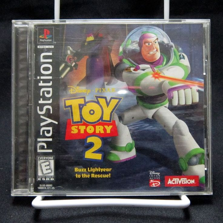 Toy Story 2 Buzz Lightyear To The Rescue Black Label PS1 Complete & Tested