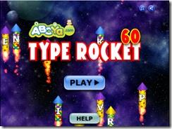 O Type Rocket é um jogo muito simples e consiste em fazer explodir os rockets que surgem no ecrã durante 60 segundos. Para os fazer explodir somente temos que carregar na tecla da letra que se encontra dentro do rocket.