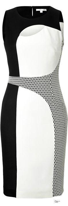 Desgaste moderno para trabalhar - Paule Ka uma ??  Vestido colorblock preto e branco Mod
