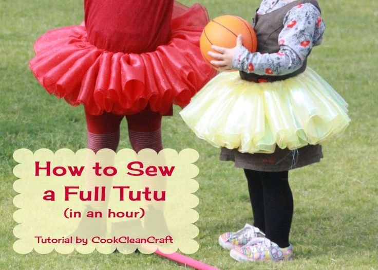 Full Tutu Sewing Tutorial No sew tutus are cute, but don't twirl like a ballerina tutu should. This tutorial shows you simple way to sew a tutu in under an hour.