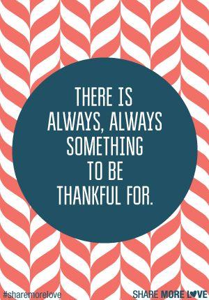 Be Thankful #sharemorelove