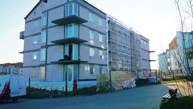 Październik 2014 - Mieszkania Gdańsku budowa Osiedla Chabrowego