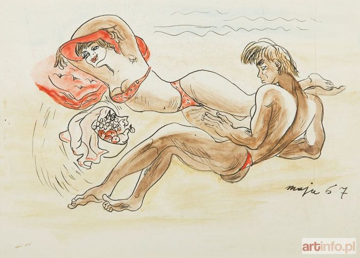 Maja BEREZOWSKA ● Na plaży, 1967 r. ●