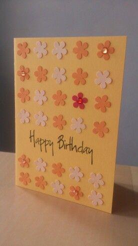 Blümchen Geburtstagskarte