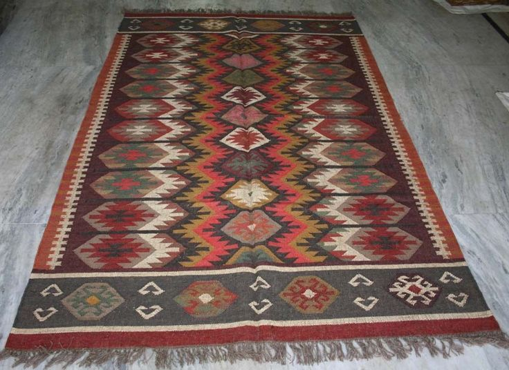 Details About Anatolian Turkish Antalya Wool Jute Kilim Area Rug Kelim Carpet  Rug 4u0027x6u0027 Feet