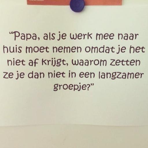 Papa, als je werk mee naar huis moet nemen.......  (via @RobertSjoers). #humor #lol #kinderen
