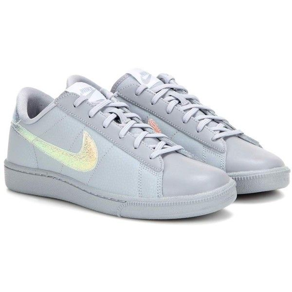 Nike Nike Tennis Classic Premium Leather Sneakers ($105) ? liked on  Polyvore featuring shoes