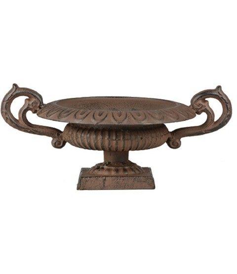 Esschert XH71 Französische Vase niedrig mit Griffen (S) Pflanzkübel Garten Antik Amphore  - 2-flowerpower