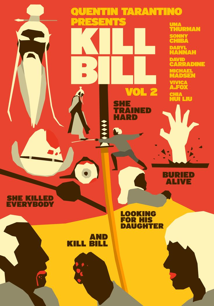 Kill Bill: Vol. 2 (2004) ~ Alternative Movie Poster by Hexagonall Studio #amusementphile