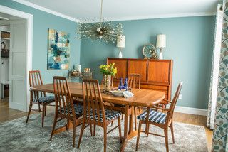 Mid-Century Modern Dining Room - transitional - dining room - providence - by Fresh Nest Color & Design