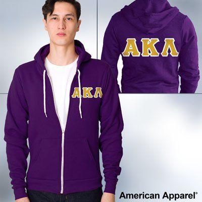 American Apparel Alpha Kappa Lambda Zip Hoody - F497 - TWILL