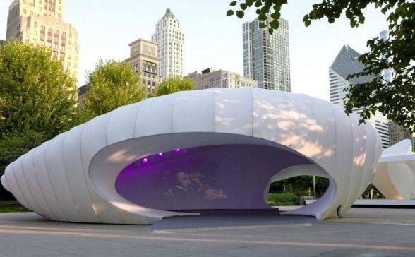 Zaha Hadid Burnham Pavilion από την Zaha Hadid Architects στο Σικάγο Ηνωμένες Πολιτείες