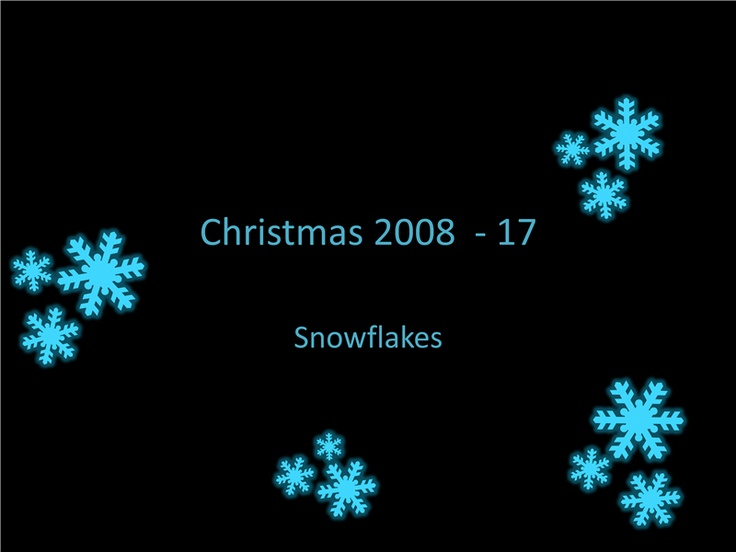 Christmas 2008 18 Snowflakes Templates Office Com