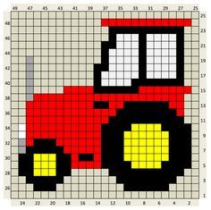 CROCHET C2C TRACTOR : The Craft Co.: Crochet Charts