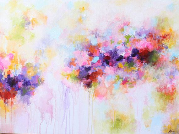 Abstract painting,Original Painting,Acrylic Painting-abstract art Canvas Wall art - contemporary art -purple,pink,colorful painting
