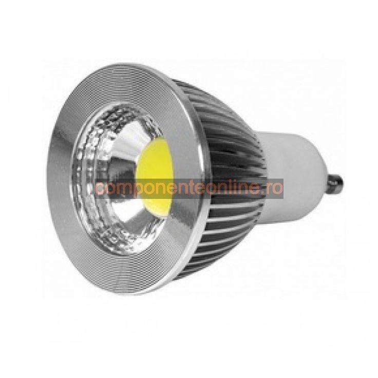 Spot cu arie LED, 5W, 220V, dulie GU5,3, lumina alba - 116631
