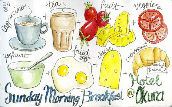 Food! Online drawing course - Koosje Koene - Learn to draw: colour @Koosje Koene @Kristin Holt #draw #kholt