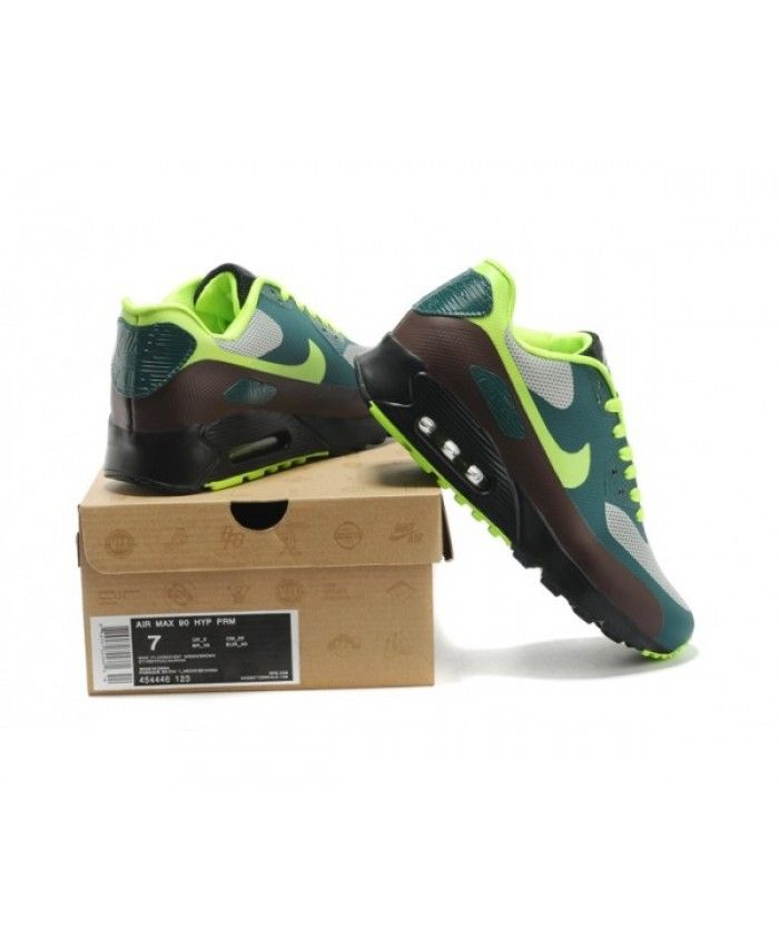 162f68ccbc95 Mens Nike Air Max 90 Hyperfuse Prm Wine Green 6809331-253