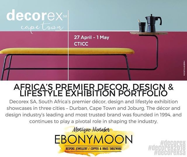 Decorex SA is South Africas premier décor design and lifestyle exhibition showcases in three cities  Durban Cape Town and Joburg. The décor and design industrys leading and most trusted brand was founded in 1994 and continues to play a pivotal role in shaping the industry.  This year... WE ARE GOING!  2018 is our year of showing the world what we can do and we are fortunate to be able to exhibit at the best events this year both nationally and internationally. To find out more about this…