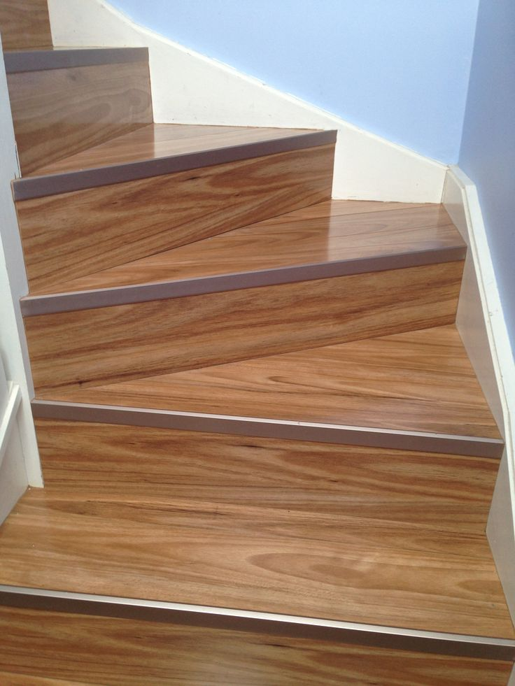 Timber Impressions Platinum Laminate Flooring- Blackbutt. Staircase.