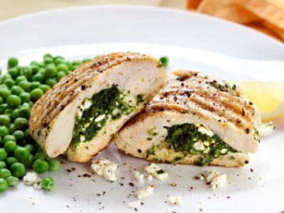 Receta de Pollo Relleno de Espinaca y Queso de Cabra