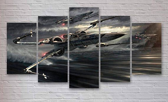 Star Wars X Wing Movie 5 Panel Canvas 119 Canvas Wall Art Is A Quick And Easy Way To Transform Any Plain Wall Into Something T Canvas Art Art Star Wars Poster