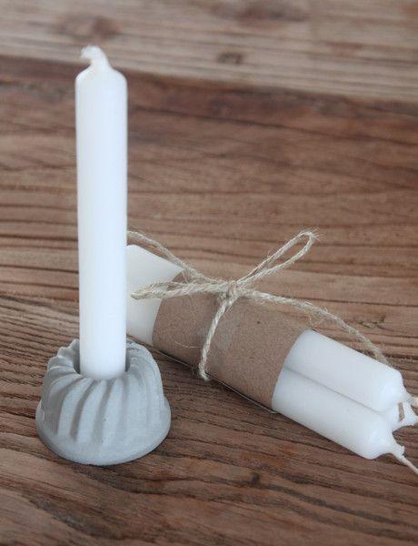 Mini+Beton-Kerzenhalter+Gugelhupf+inkl.+Kerzen+von+Snugglik+auf+DaWanda.com