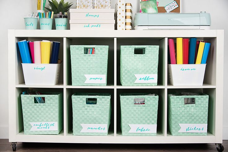Using Cricut Explore Air you can make the best Craft room labels; be more organized and pretty at the same time.