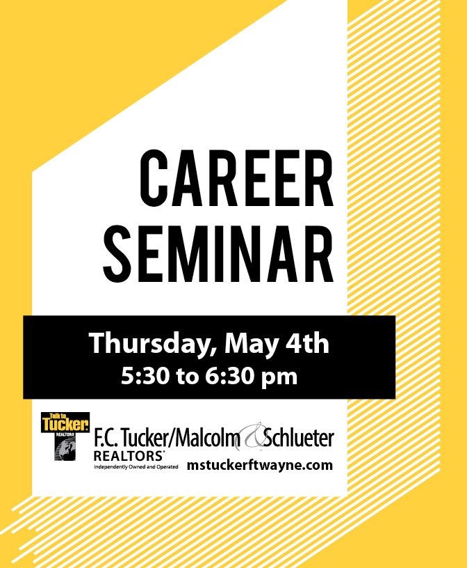 Ever wonder what a career in real estate is like? Now is your chance to find out! We will take a look behind the scenes of the day-to-day operations of a real estate agent. You'll get a better understanding if this is the path for you, while learning the benefits of becoming an agent. Join us on May 4th at our Auburn office. #fctuckermalcolmschlueter #talktotucker #tuckertips #careernight #becomeanagent Find out more at mstuckerftwayne.com/careers
