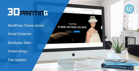 3D Printing - Responsive Elegant 3D Print & Scan Technology WordPress Theme
