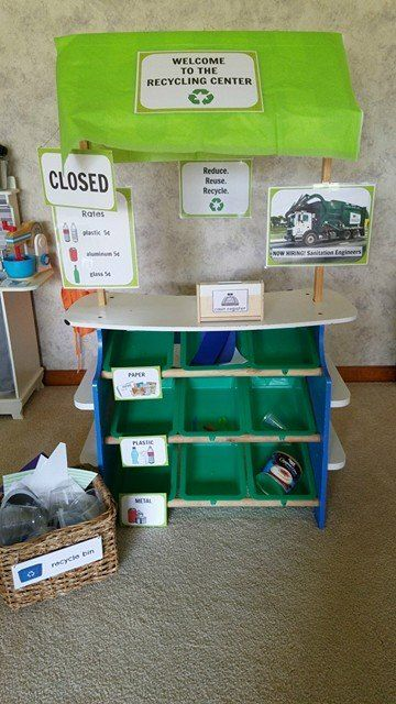 Earth Day And Recycling Lesson Planning Ideas. Dramatic Play AreaPreschool  ...