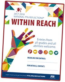 National PTA ToolKit 2017-18 with links to logo, poster & pdfs for Within Reach Reflections theme
