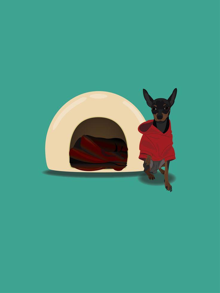 미니핀 / 강아지 / 일러스트 / Illustrator / design / Graphic / 까미 / dog / drawing   -Designer Urim