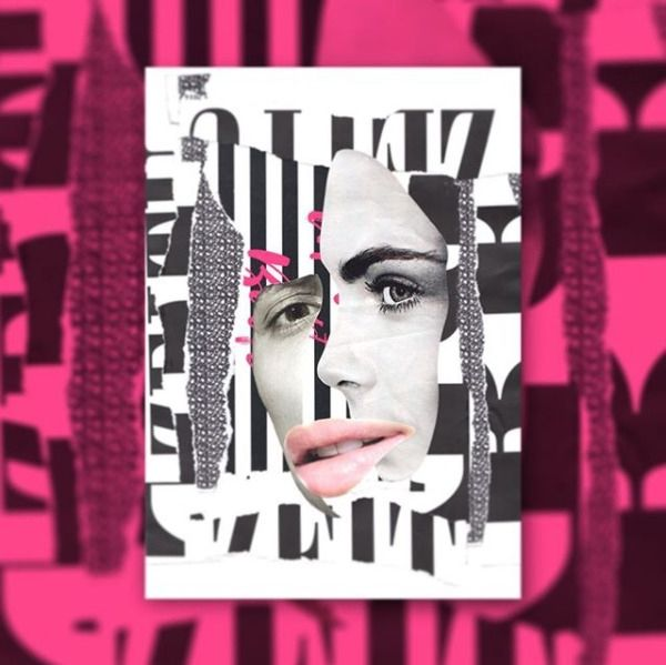 """My collage output is the result of having a serious addiction to printed matter. I'm hooked on type, colors, shapes and..."