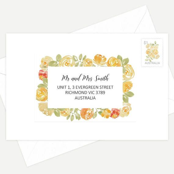 Printed Guest Addressing Labels Multiple Font Styles To