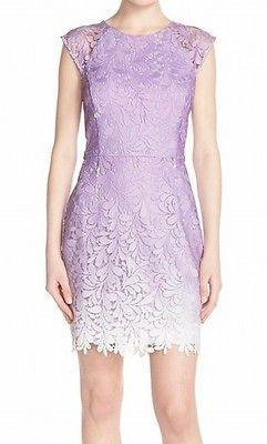 Adelyn Rae NEW Purple Womens Size Medium M Ombre Crochet Sheath Dress $108 797