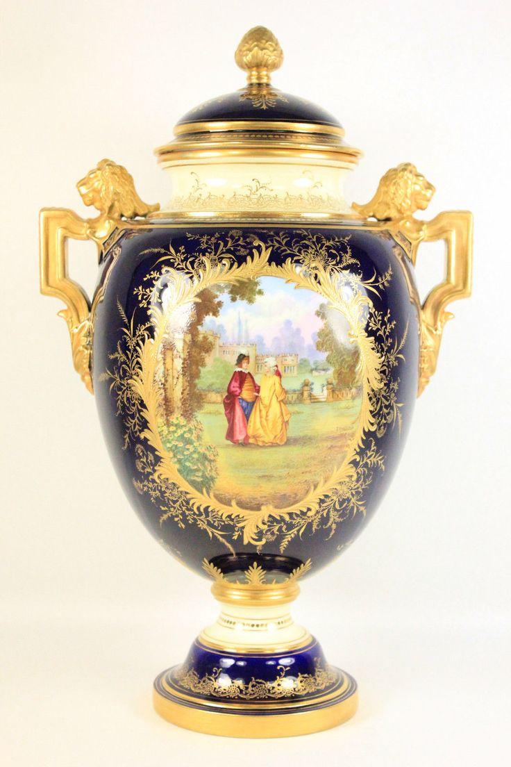 D tails sur antique coalport grande couvercle vase cover tom keeling dans le jardin - Jardin mediterraneen limoges ...