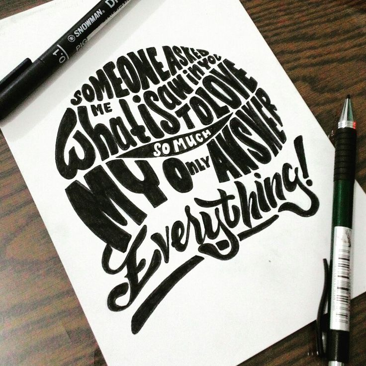 Lettering and quotes