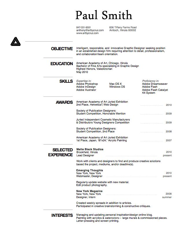 Curriculum Vitae  Free Resume Samples And Writing Guides For