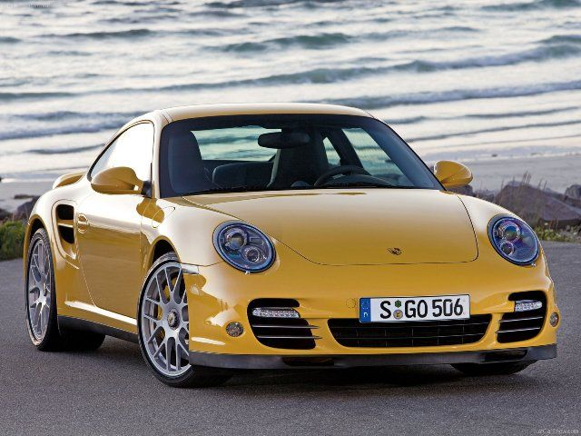 Beautiful Yellow Porsche 911 Turbo