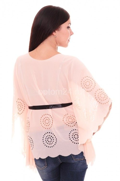 Блузка кремовая летняя А7855 Размеры: S, M, L, XL Цена: 150 руб.  http://optom24.ru/bluzka-kremovaya-letnyaya-a7855/  #одежда #женщинам #блузки #оптом24