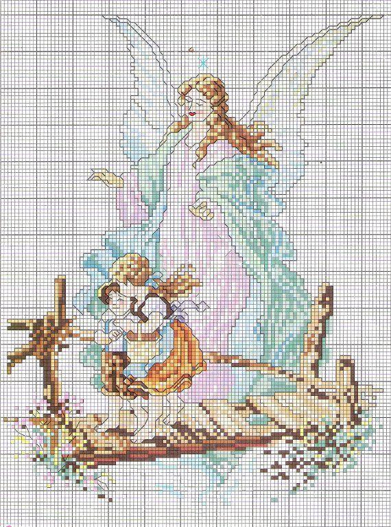 angel de la guarda - PUNTO DE CRUZ con Perla - Gabitos