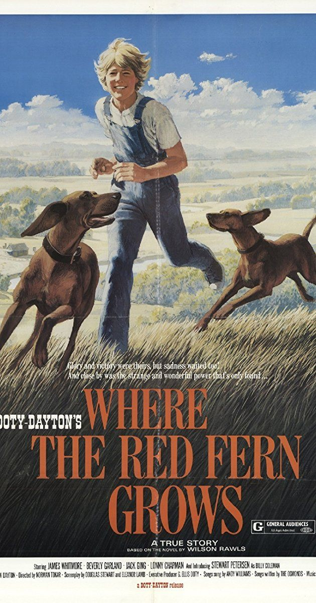Directed by Norman Tokar.  With James Whitmore, Beverly Garland, Jack Ging, Lonny Chapman. Where the Red Fern Grows is the heartwarming and adventurous tale for all ages about a young boy and his quest for his own red-bone hound hunting dogs.